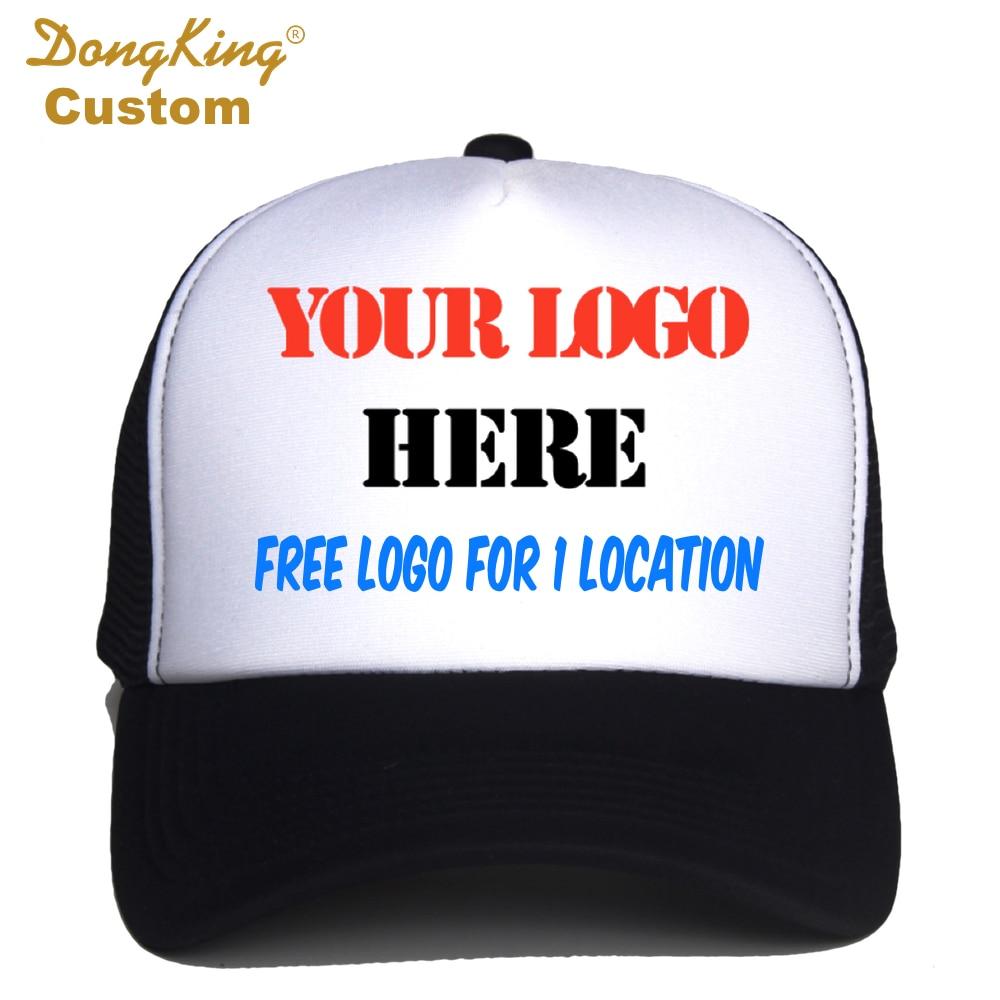 2c3a813d8cd9b Custom Trucker Cap Free Logo Text Photo Print Adult Men Women Mesh  Adjustable Snapback Personalized Gorras