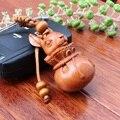 Новое Поступление Ручной Работы Брелок Для Ключей Резьба По Дереву Автомобиль Кулон Кролик Повесить Статуя Подарок Для Мужчин и Женщин