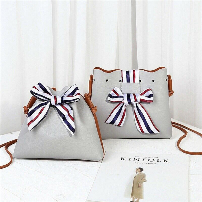 Simple PU Leather Women Casual Shoulder Bags Pure Color Messenger Crossbody Phone Handbags