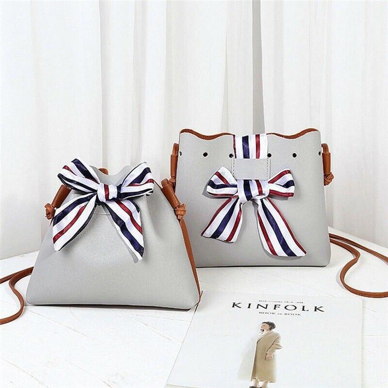 Simple PU Leather Women Casual Shoulder Bags Pure Color Messenger Crossbody Phone Handbags