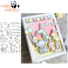 2019 Party Parade Metal Cutting Dies and Clear Stamps for Scrapbooking DIY Card Making Crafts Stencil