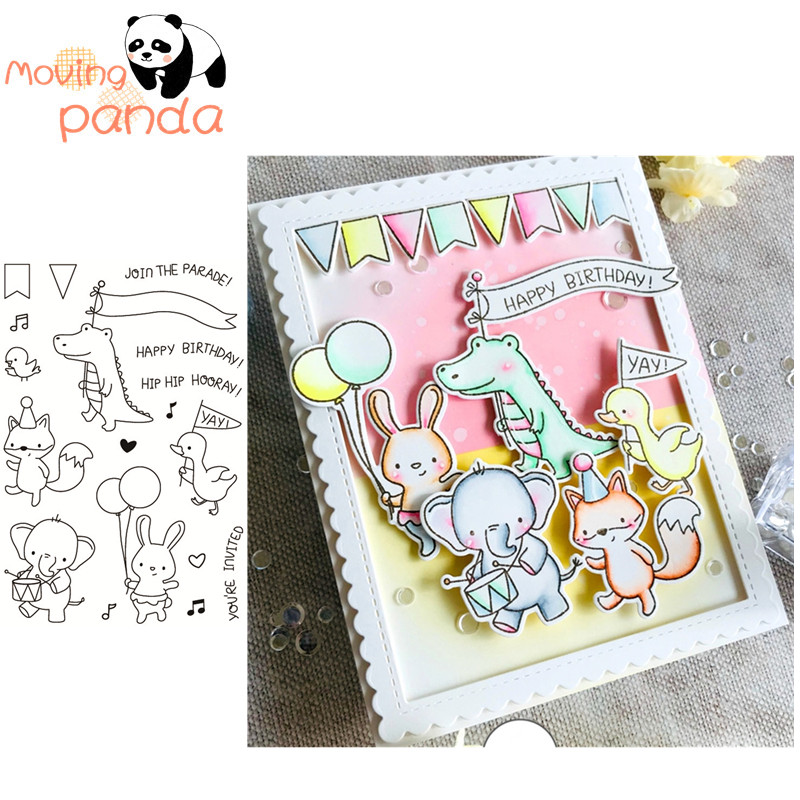 Party Transparent Clear Silicone Rubber Stamp Cling DIY Scrapbooking Card K6