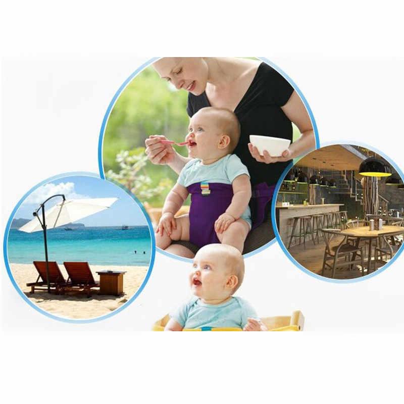Silla de bebé asiento portátil comedor Silla de almuerzo cinturón de seguridad abrigo elástico Silla de alimentación arnés bebé asiento de refuerzo alimentación de bebé