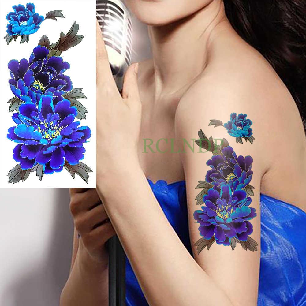 87be64a409b7a ... 17 designs Waterproof Temporary Tattoo Sticker purple orchid flowers  body art tatto stickers flash tatoo fake