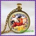5 estilo personalizado sagitário signo colar sagitário Archer zodíaco astrologia arte pingente bronze finish com saco do presente