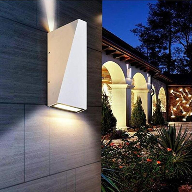 Outdoor LED Wall Light Waterproof IP65 6W Modern Indoor Wall Lamps Living Room Porch Light Garden Lamp AC85-265V AT-15 modern villa porch light led wall light outdoor waterproof ip54 modern porch light led indoor outdoor wall lamps garden lamp
