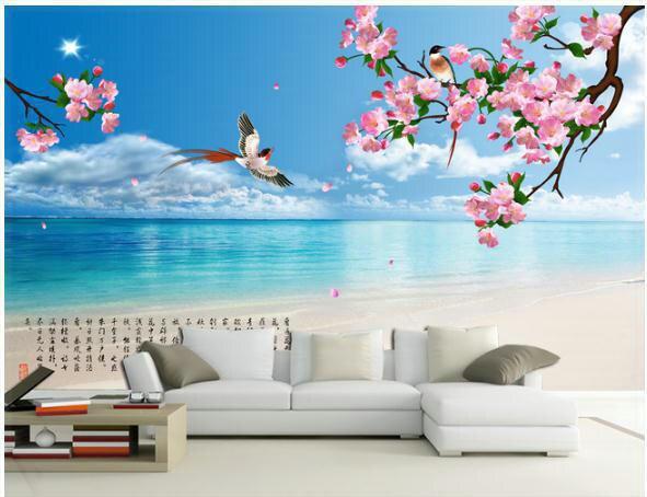 aliexpress.com : acquista carta da parati paesaggio spiaggia e ... - Carta Da Parati Paesaggi Naturali
