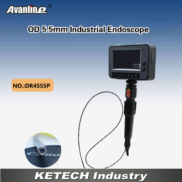 DR4555P High Quality OD 5.5mm Industrial Endoscope 4.3 LCD Video Borescope Sewer Drain Pipeline Inspection Camera Videoscope dhl free wp90 50m industrial pipeline endoscope 6 5 17 23mm snake video camera 9 lcd sewer drain pipe inspection camera system