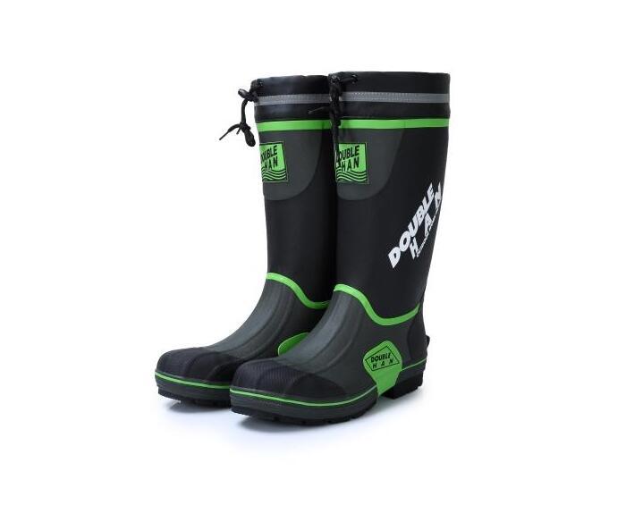 Men 39 s wellington rubber rain boots waterproof fishing for Rubber fishing boots