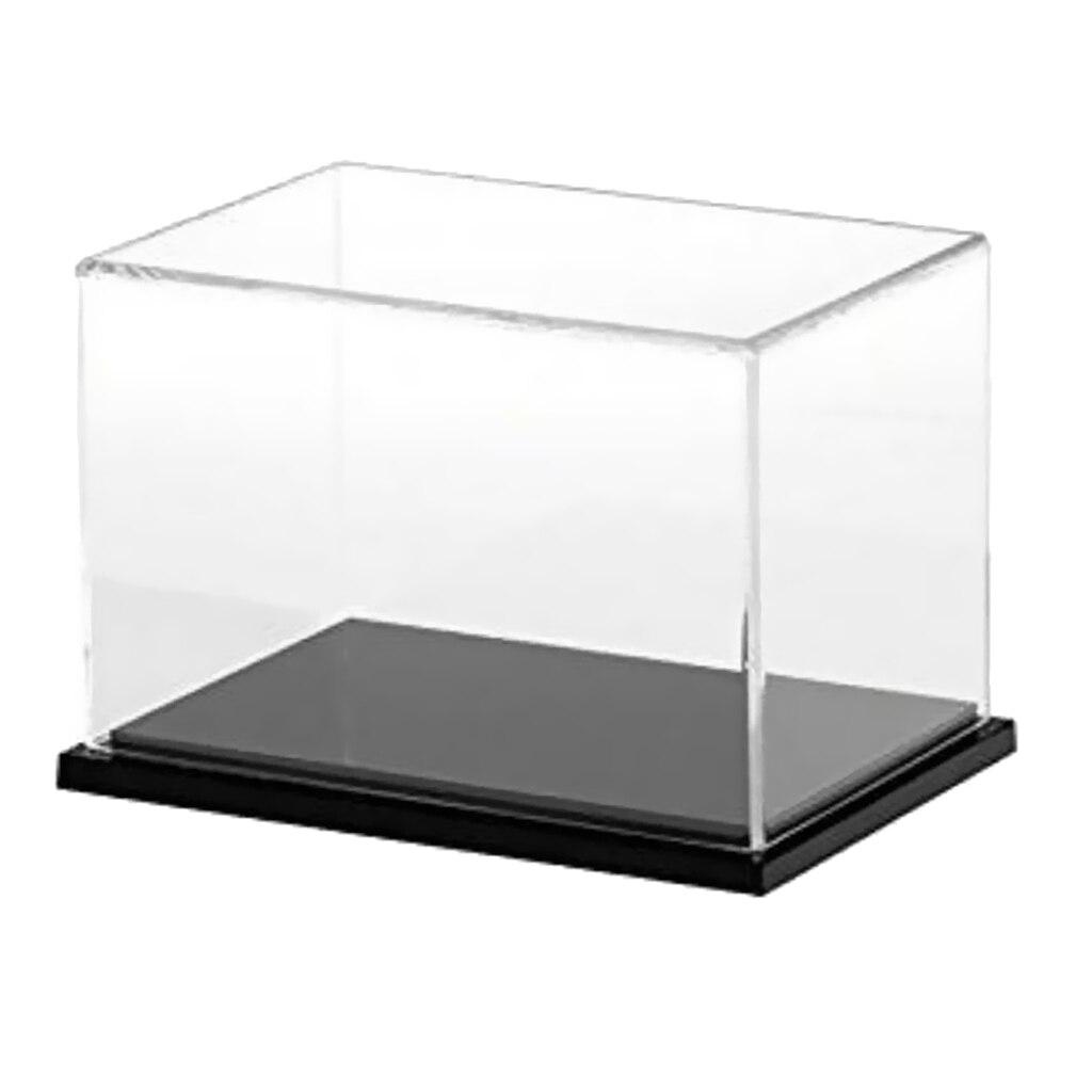 2pcs vitrine acrylique étui de protection antipoussière 25 x 15 x 15 cm