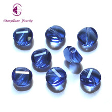 100PCS NEW Top quality Unique Twist Button shaped glass beads Austrian crystals loose ball supply 10mm SQ3A2410M