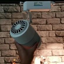 30 Вт, 40 Вт, 50 Вт, ручная сборка светодиодный Трековый светильник алюминиевые потолочные рельсы трек большую площадь освещения железнодорожных прожекторы Замена галогеновым лампам 110 V 220 V AC240V