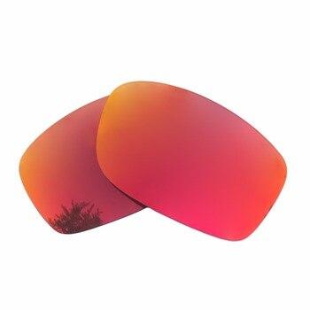 Orange Red Mirrored & Black Polarized Replacement Lenses for Fives Squared Frame 100% UVA & UVB