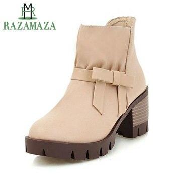 2020 de talla grande 34 48 nuevas botas para mujer Otoño