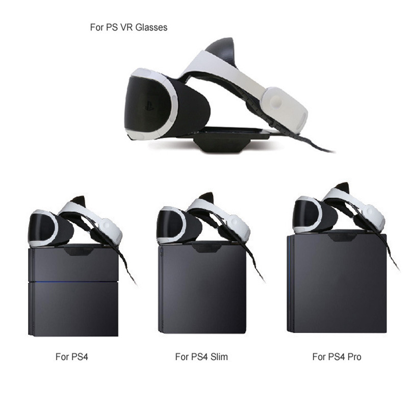 VR Glasses Tray Holder Support Stand Bracket Base Storage For PS VR Glasses Slide to Fix For Playstation 4 PS4 Pro PS4 Slim in Replacement Parts Accessories from Consumer Electronics