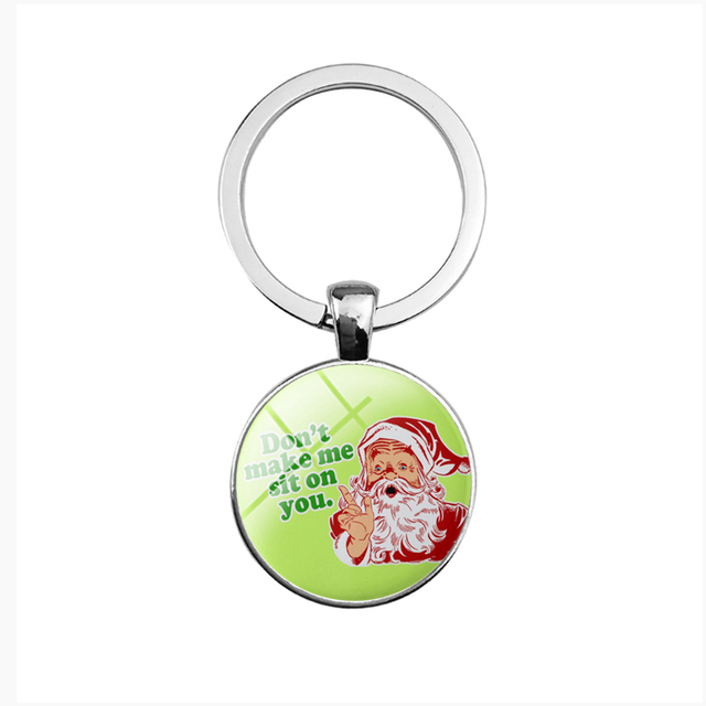 SUTEYI Fashion Cute Merry Chrismas Letter Key Chains Holder Glass Dome  Pendant Keyrings Women Men Child Gifts Jewelry 88dd23d3ee
