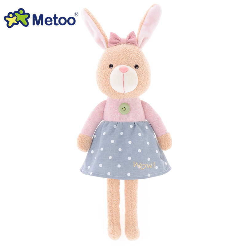 Metoo Dolls Rabbit Bear Plush Stuffed Animal Cartoon Kids Toys Girls Children Baby Birthday Christmas Gift Kawaii animals S71