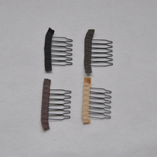 30pcs 6 Theeth Stainless Steel Wig Combs Clips For Lace Wigs Cap Accessories Styling Tools