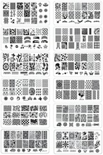 12pcs/Lot Christmas Nail Art Stamping Plates Manicure DIY Kit Image Plastic Nail