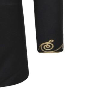 Image 5 - אופנתי האפריקאי דאשיקי T חולצת גברים ארוך במיוחד הנלי צוואר לכשכש סגנון Mens חולצות 2018 Slim Fit ארוך שרוול Harajuku חולצות Tees