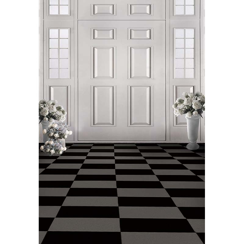 Black and white grids floor photography background hollow vinyl photo backdrops for photo studio funds props CM-4785 christmas photography background vinyl photo props children backdrops for studio 7x5ft or 5x3ft christmas061