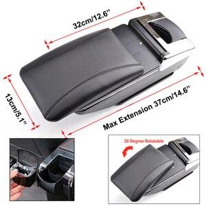 Image 5 - Armlehne Für Renault Dacia Duster ICH 2010 2015 Arm Rest Drehbare Lagerung Box Dekoration Auto Styling 2011 2012