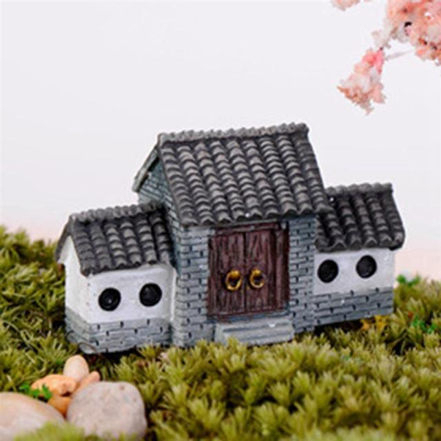 Ancient House Archway Micro Landscape Mini Old City Gate Resin DIY Decor Ornaments Crafts Fairy Garden Bonsai Home Decoration 3