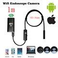 1 m 2.0 Megapíxeles CMOS HD 8mm WiFi Cámara Del Endoscopio Del Animascopio Impermeable Video Cámara de Inspección de Serpiente para IOS y Teléfonos Android