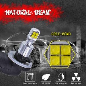 Image 4 - 2pcs 1500 Lumens CREELED 40w H27 881 LED Car Fog Light Bulbs Day Running Light White Waterproof IP68 H27W/2 Led For HYUNDAI