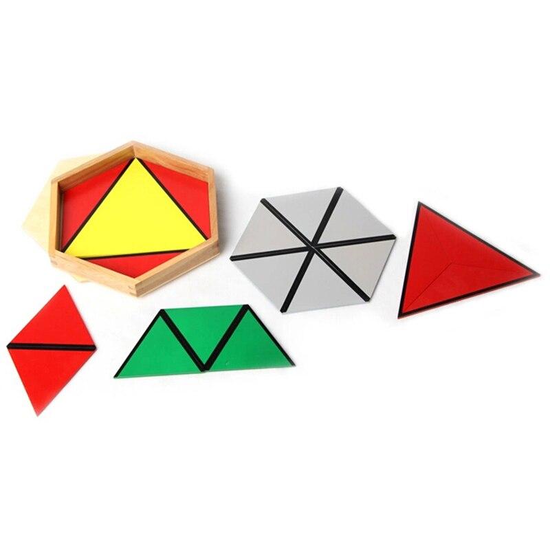 Bébé jouet Montessori Triangles constructifs avec 5 boîtes pour l'éducation de la petite enfance formation préscolaire jouets d'apprentissage - 3