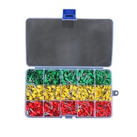 Newest 990pcs Electrical Wire Connector Crimp Ferrules Terminals Assortment Kit Cable End Wire Pin Terminal