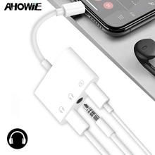 Ahowie двойной разъем для наушников разветвитель для Iphone X XS зарядный кабель 3,5 мм разъем для наушников адаптер для Iphone 8 7 Plus шнур зарядного устройства
