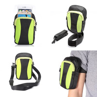 Multifunction Double Pockets Bag With Belt Pouch Arm Band Case Cover For Samsung Galaxy Grand Prime