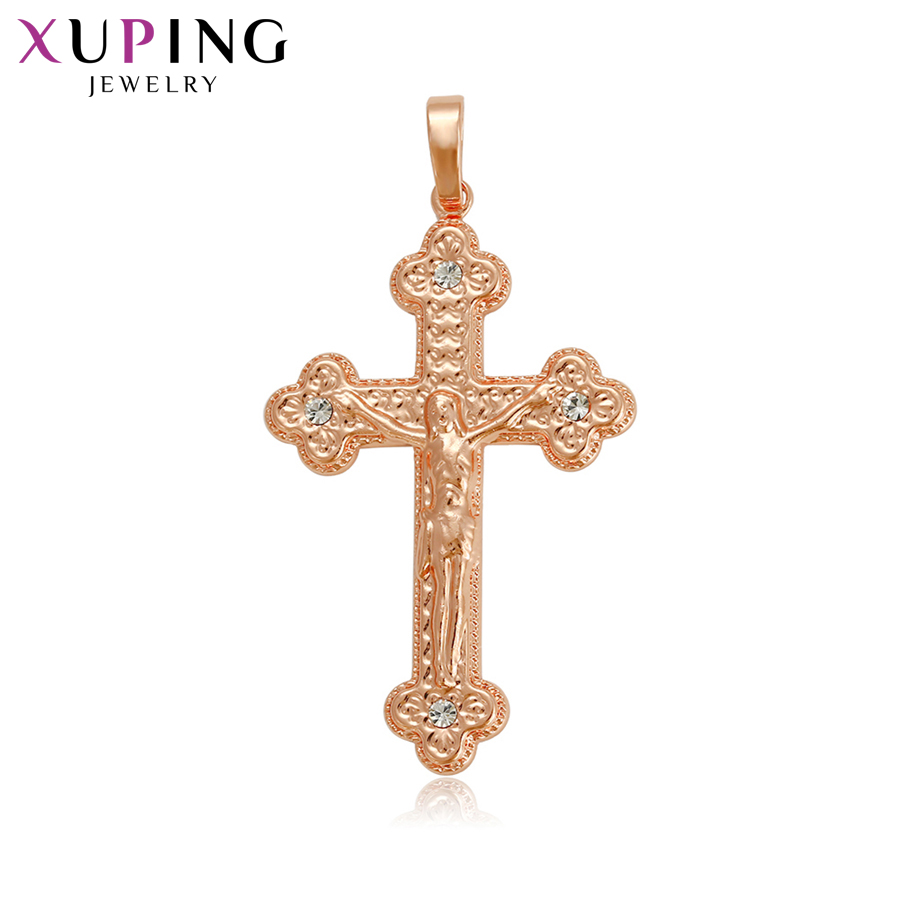 11.11 Deals Xuping Luxury Charm Style Necklace Pendant Jesus Seris Women Girls Jewelry Black Friday Gifts S81,6-33442