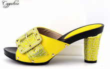 Capputine New Arrival Shoes And Bag Set For African Party Nigerian Shoes for Women High Quality Shoe2088-996
