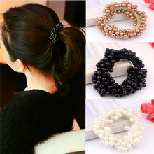 Hot 1Pc 3 Colors Girls Pearl Fashion Charming Beads Hair Head Ring Jewellery Gift