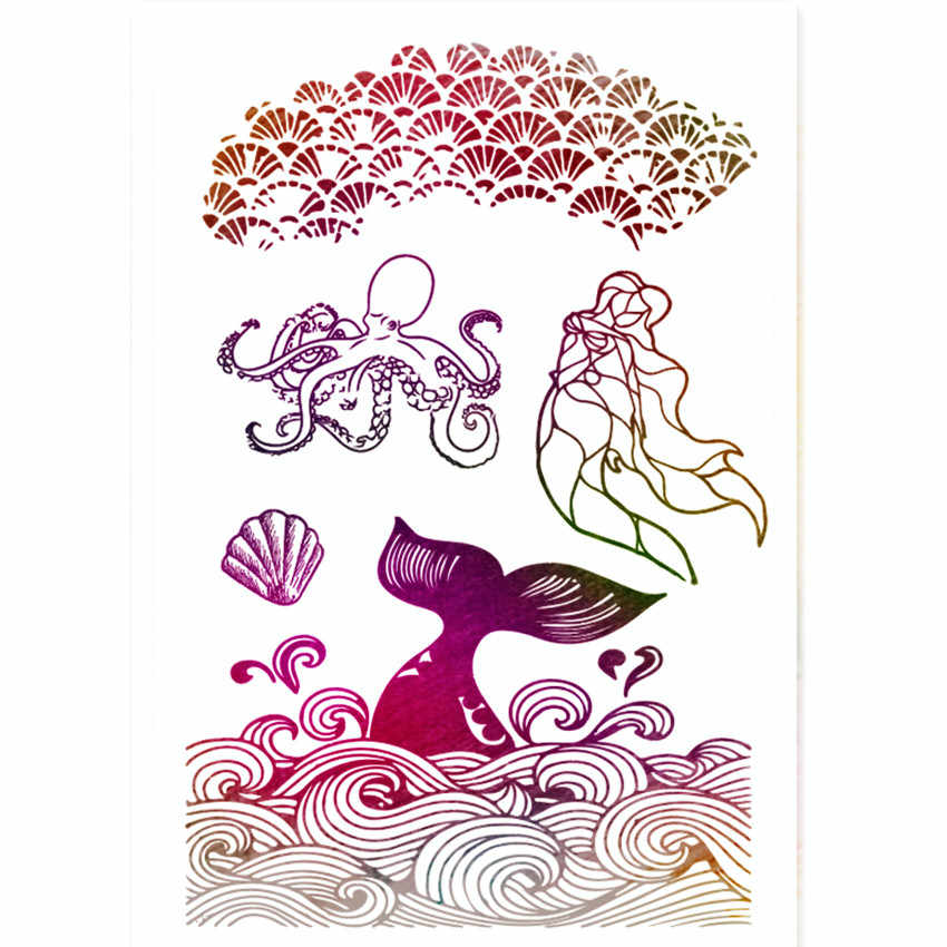 PANFELOU Sereia Marinha Transparente Claro Silicone Selo/Selo para scrapbooking DIY/álbum de fotos claro Decorativo folhas de carimbo