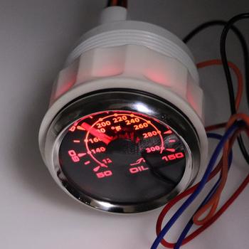52mm cyfrowy olejny wskaźnik temperatury wyświetlacz z czujnik temperatury zestaw montażowy DC 12V z 8 kolor światła tanie i dobre opinie 2019 stainless steel 0 8kg waterproof ip67 oil temperature gauge china all the vehicel