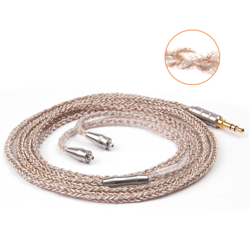 купить AK 8 Core Gold Plated Cable 3.5mm Balanced Cable With MMCX Connector For Shure LZ A3 A4 DQSM FSX-007 онлайн