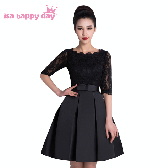 Elegant Short Black Dresses