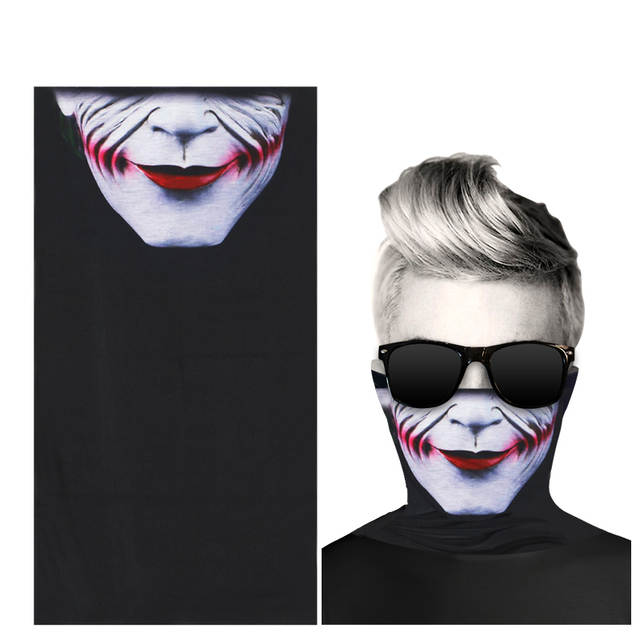 Windproof Scary Scarf Motorcycle Face Mask Skull Bandana Neck Scarves Men  Women Motorcycle Scarf Face Shield 6aa6f7f453