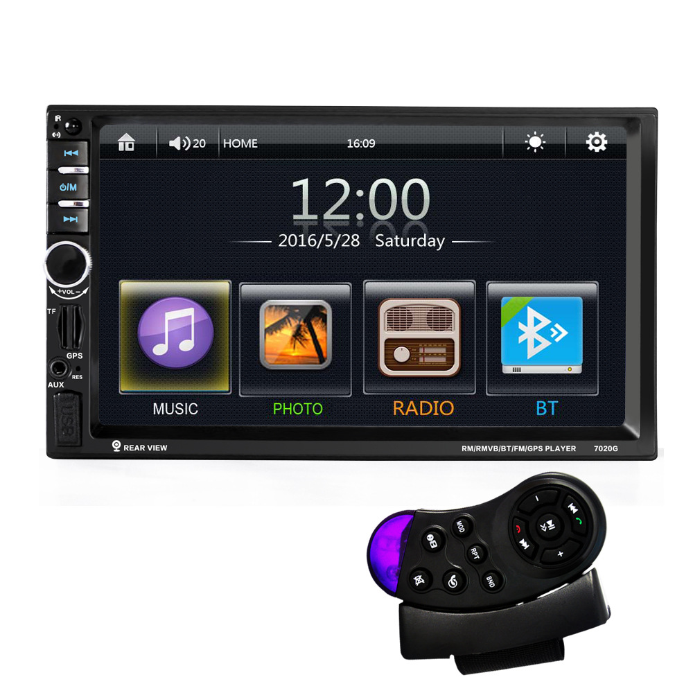 Free shipping 7inch Touch Screen Car Bluetooth Audio Stereo MP5 Player  stand by Rearview Camera GPS Navigation FM Function car mp5 player with rearview camera gps navigation 7 inch touch screen bluetooth audio stereo fm function remote control