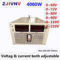 4000W Switching power supply 60V/72V/80/90V/110V/220v current &voltage both adjustable input 110/220/380vac AC-DC smps