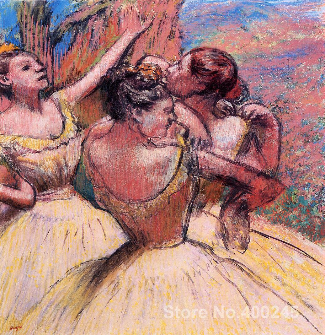 wall art Three Dancers Edgar Degas Paintings Hand painted High qualitywall art Three Dancers Edgar Degas Paintings Hand painted High quality