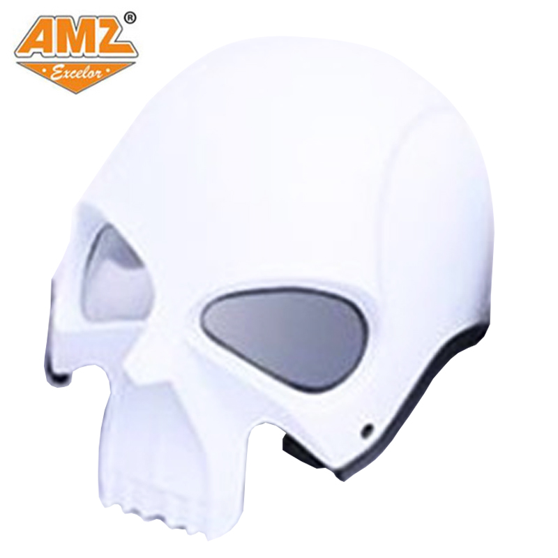 AMZ Halley street car skeleton profiled personality helmet heavy locomotive running helmet  DOT approved цена