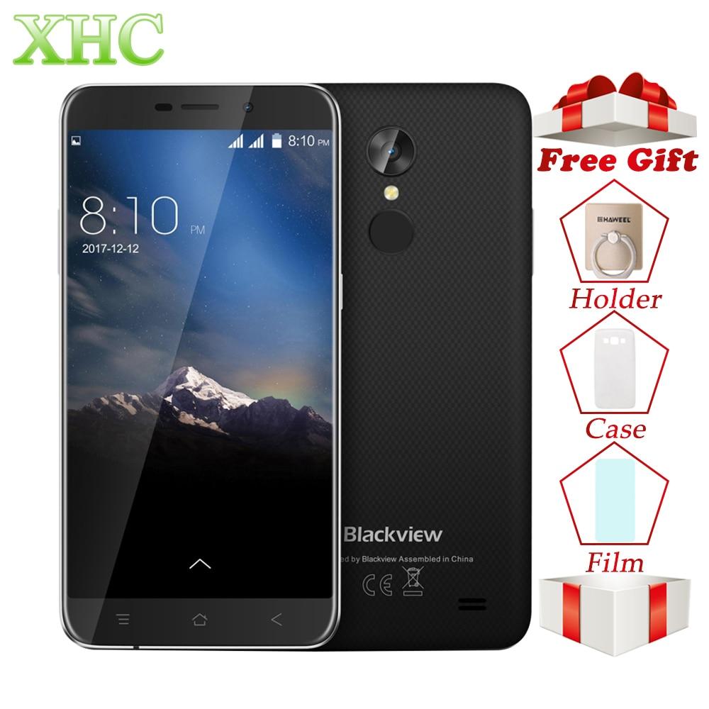 WCDMA 3G Blackview A10 5.0 ''Smartphone RAM 2 GB ROM 16 GB Android 7.0 1280x720 Pixel MTK6580A Quad Core Dual SIM OTA Mobile téléphones