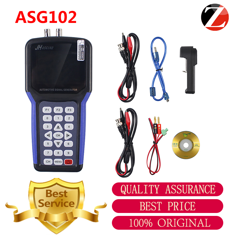 Jinhan ASG102 Digital Handheld Signal Generators 2 Channels JHASG102 Automotive Signal Generator Kit With CAN data