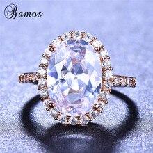 Bamos Luxury Big Oval Rhinstone Ring Ladies Rings High Quali