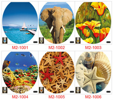Environmentally Friendly Waterproof Material Vinyl Wall Stickers Landscape Creative Toilet for WC Bathroom Decoration