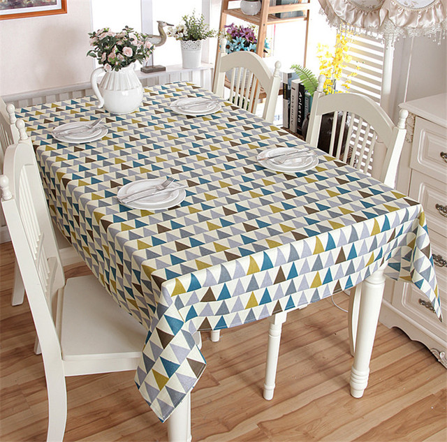 2017 New Arrival Simply Style Triangle Pattern Table Cloth High Quality Tablecloth Cover Manteles Para